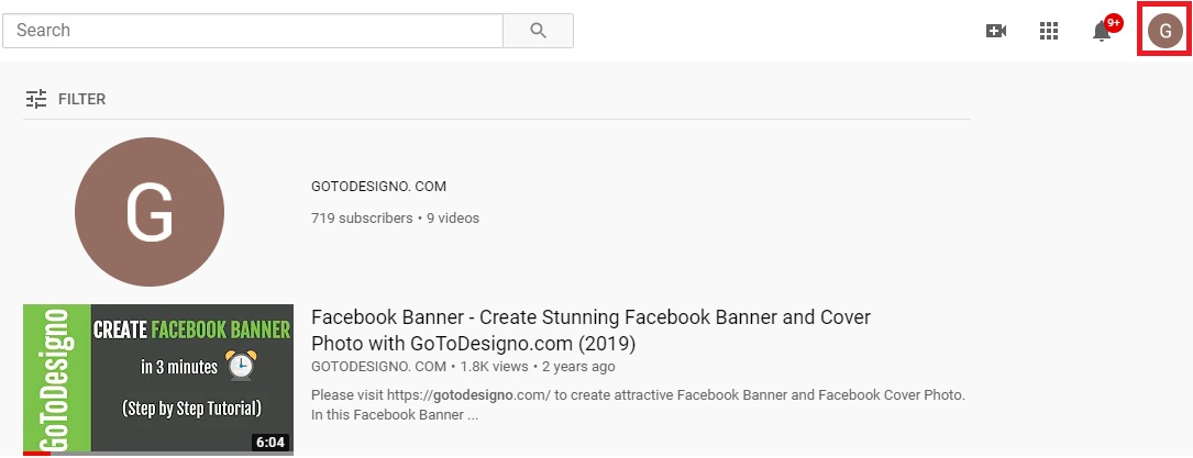 YouTube Channel Name Desktop Step 1