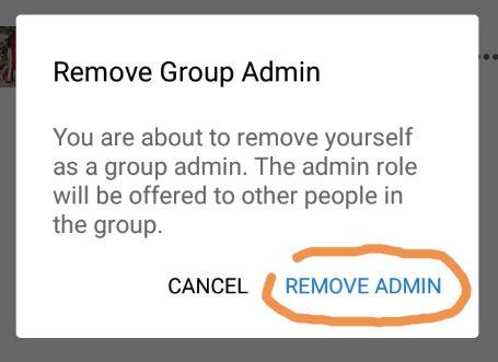 Delete Facebook Group on mobile - Step 5