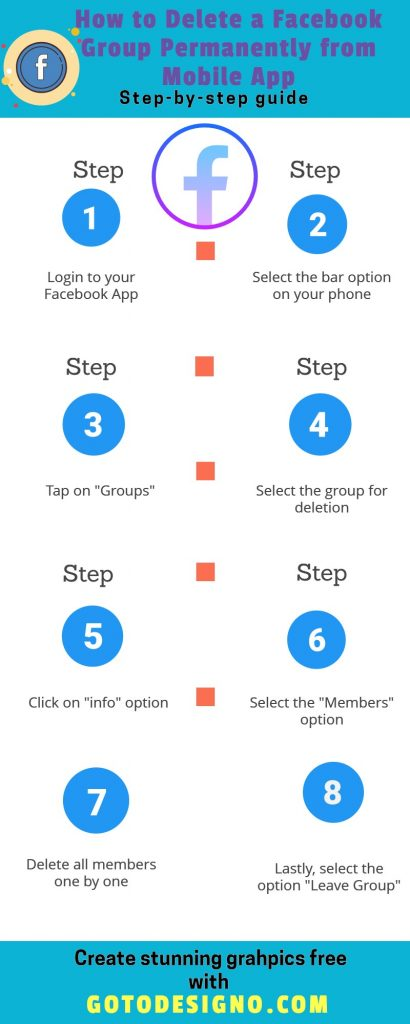 How to delete Facebook Group - Mobile Version